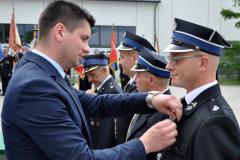 90-lecie OSP Bukowska Wola - Złoty Medal dla prezesa Piotra Sowy - miechowski.pl - fot. K. Capiga