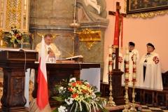 3 Maja w Miechowie - celebrans ks. proboszcz Mirosław Kaczmarczyk - miechowski.pl - fot. Krzysztof Capiga