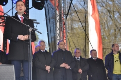 Wybory Chłopa Roku 2017 - oficjele i przemawiający poseł Władysław Kosiniak-Kamysz - fot. K. Capiga
