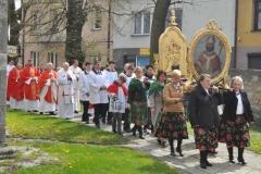 Odpust Parafialny w Książu Wielkim - procesja - fot. Krzysztof Capiga - miechowski.pl