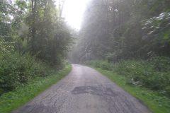 Droga powiatowa w Wysocicach przed remontem