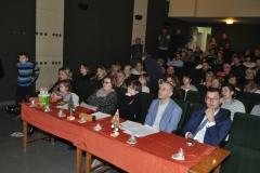 Jury, goście i widzowie Miechowskiego Przeglądu Widowisk Jasełkowych - fot. K. Capiga