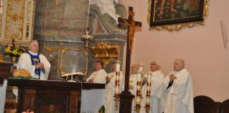 Msza święta w Bazylice Grobu Bożego