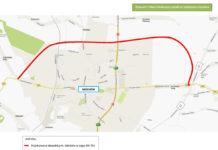 Planowana lokalizacja obwodnicy Miechowa - źródło: http://www.zdw.krakow.pl/inwestycje/inwestycje-rpo/222-obwodnica-miechowa.html