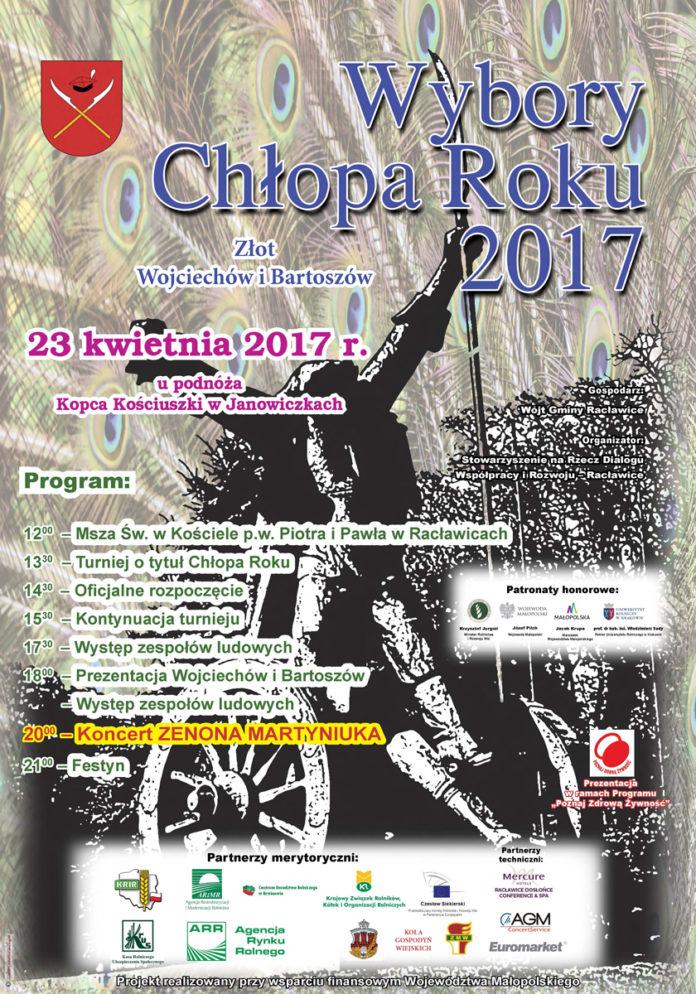 Wybory Chłopa Roku 2017 - projekt plakatu - Krzysztof Capiga - MIECHOWSKI.PL