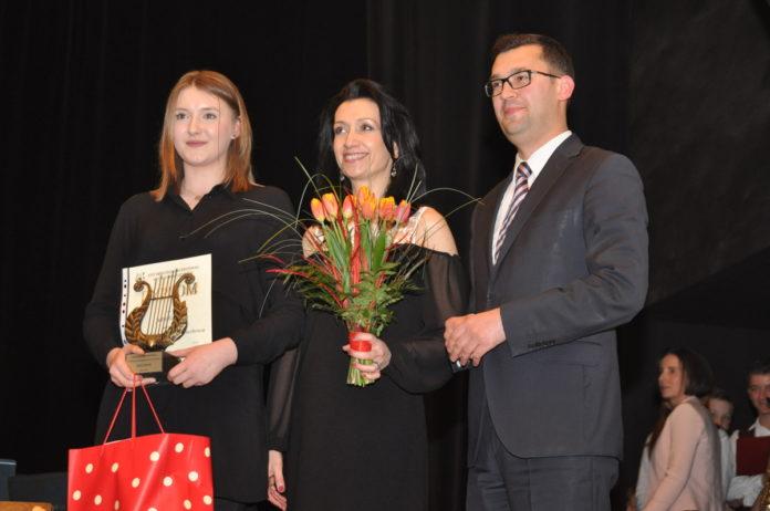 Zdobywczyni Nagrody Burmistrza - saksofonistka Julia Grela - fot. K. Capiga