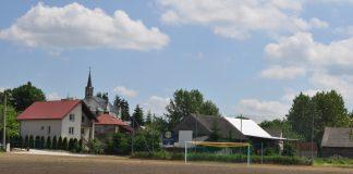 Odbiór boiska w Słaboszowie - zdjęcie z 5 czerwca 2017 r.
