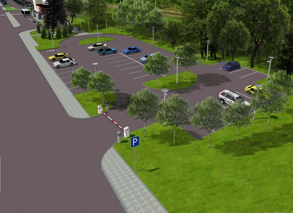 Parking P&R przy Dworcu Kolejowym w Miechowie - wizualizacja