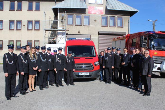Przekazanie nowego lekkiego samochodu pożarniczego dla OSP Bukowska Wola