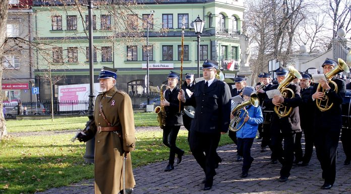 Obchody setnej rocznicy Odzyskania Niepodległości w Miechowie - fot. R. Deńca