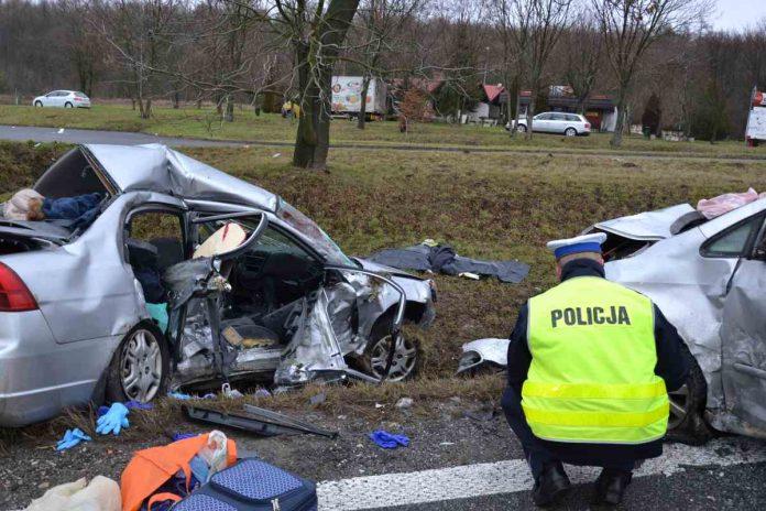 Śmiertelny wypadek w Książu Wielkim (koło stacji ARGE) fot. KPP Miechów