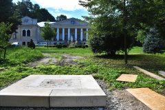 Fundament pod przenoszoną kapliczkę do ogrodu DPS Mianocice